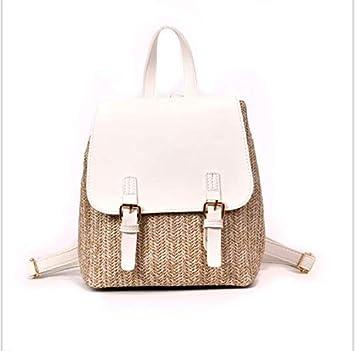 OneMoreT Mochila de paja para mujer, mochila de verano para adolescentes y niñas, mochilas de viaje de calidad, blanco: Amazon.es: Instrumentos musicales