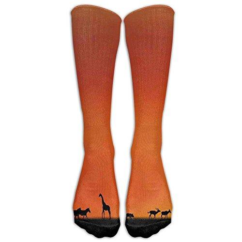 Sunset Crochet - Panorama Of Safari Animals Gulls Reflections In Background At Sunset Comfortable Knee Leg Warmer Crochet