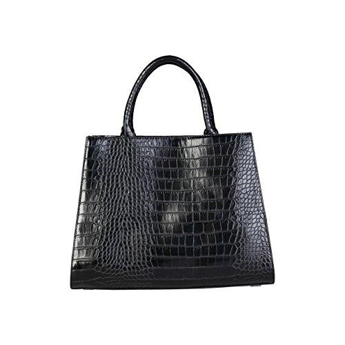 Laura Biagiotti Handbag Black Designer Women Genuine qPH10wZqx