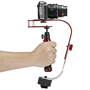 Pro Handheld Stabilizer Video Camera Stabilizer Steady for GoPro Smartphone Cannon Nikon or any DSLR camera up to 2.1 lbs With Smooth Pro Steady Glide Cam