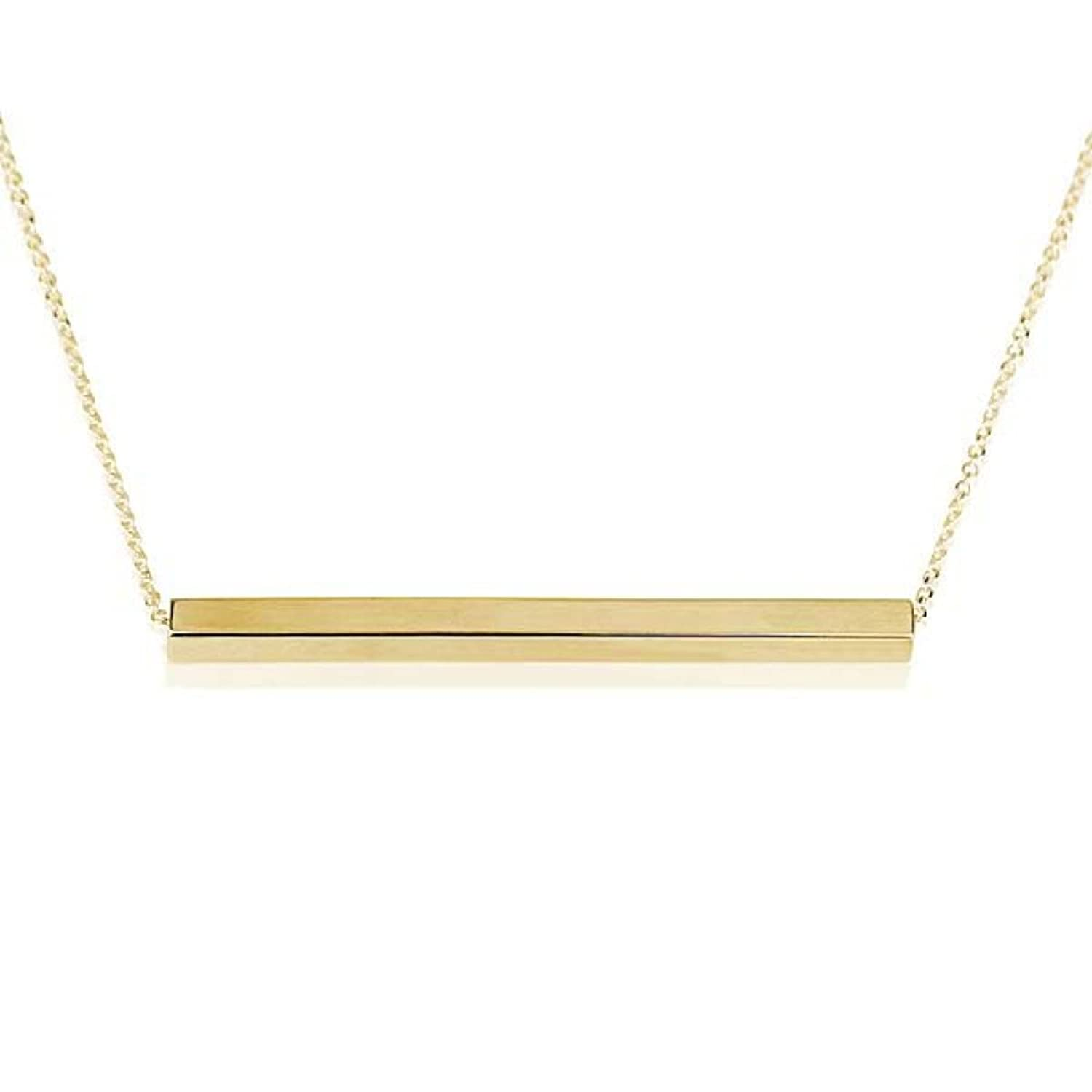 chic simple horizontal necklace modern crystal products bar