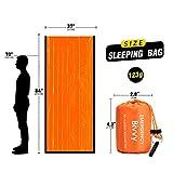 TOBWLOF 2PCS Emergency Sleeping Bags Lightweight
