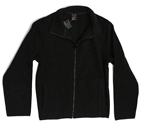 At The Buzzer 98502-BLK-10/12 Polar Fleece Boys Jacket - Solid