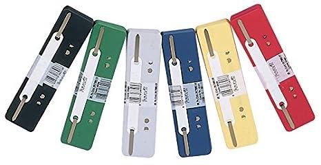 Elba - Tiras con varillas metálicas ajustables cortas para archivadores, Gris, paquete de 25: Amazon.es: Oficina y papelería