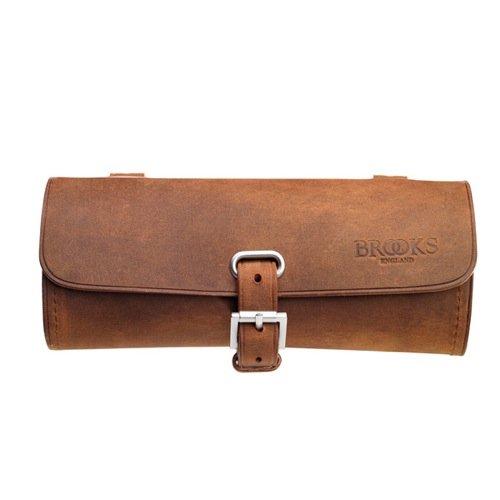 Brooks Challenge - Bolsa de piel para el sillín, color negro marrón marrón B7436A07210