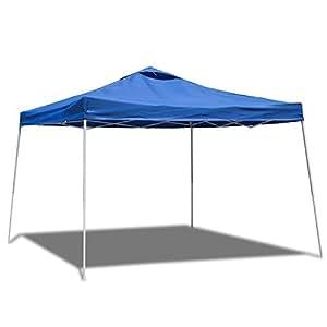 10 x 10 feet outdoor portable pop up canopy part tent sun shade blue garden outdoor. Black Bedroom Furniture Sets. Home Design Ideas