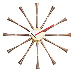 Emorden Furniture Nelson Spindle Clock, Designed by George Nelson and Produced (Full Range Available)