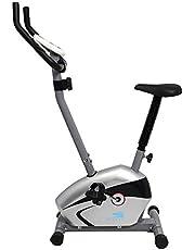 سكايلاند EM-1527 دراجة تمرين مغناطيسية من سكايلاند، بلون فضي واسود، موديل EM-1527