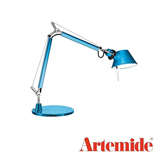 Tolomeo Micro Led Table - Artemide TOLOMEO Micro Table Lamp Metal Turquoise LED INCLUDED Design Italy 1987