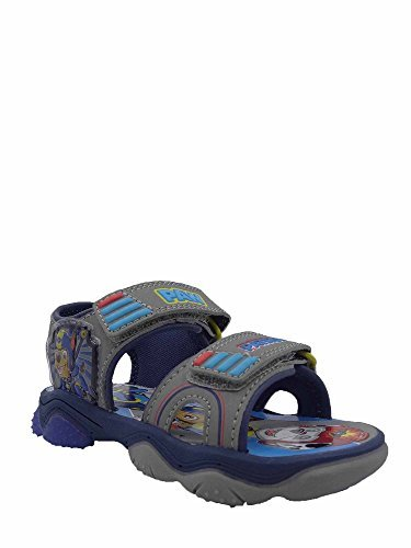 ACI Paw Patrol Kids Sandals Toddler Boy Summer Flat Cute Shoes, Grey, 10