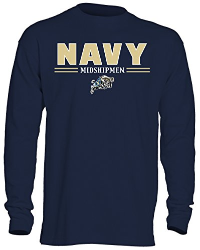 NCAA Navy Men's OVB Long Sleeve Thermal Shirt, Large, Navy