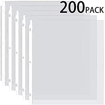 Amazon Com Ktrio Sheet Protectors 8 5 X 11 Inches Clear