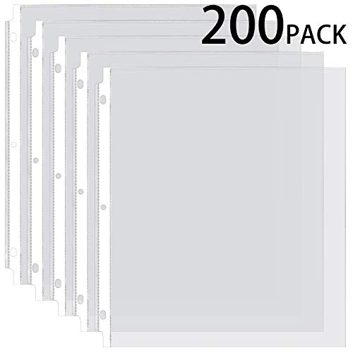 (Ktrio Sheet Protectors 8.5 x 11 Inches Clear Page Protectors for 3 Ring Binder, Plastic Sleeves for Binders, Top Loading Paper Protector Acid Free Letter Size Box of)