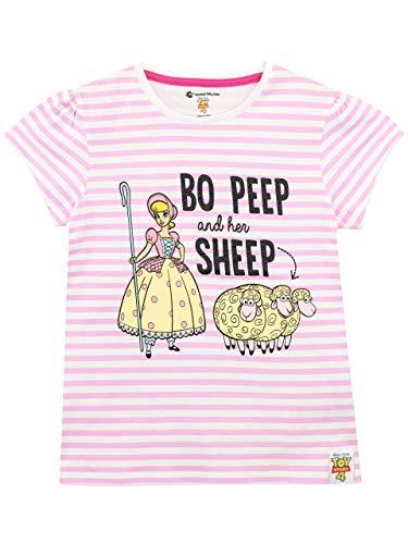 Disney Girls Toy Story T-Shirt Bo Peep Pink Size 6