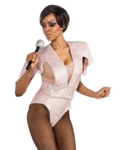 Rubie's Sexy Womens Rihanna Pink Boysuit Halloween Costume Large
