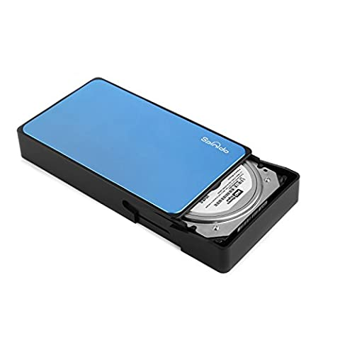 Spinido Support UASP SATA III USB 3.0/2.0 Aluminum External Tool-free Hard Disk Drive Enclosure and Mobile Device Optimized for 3.5
