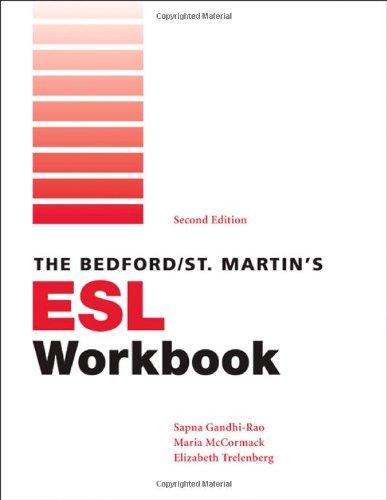 Bedford/St. Martin's ESL Workbook