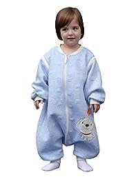 Baby Sleeping Rompers Long Sleeve Wearable Blanket Walker Sleepsacks Blue M 6-10 Month