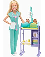 Breathe with Me Barbie Meditation Doll, Blonde, with 5 Lights & Guided Meditation Exercises, Puppy and 4 Emoji Accessories, Gift for Kids 3 to 8 Years Old