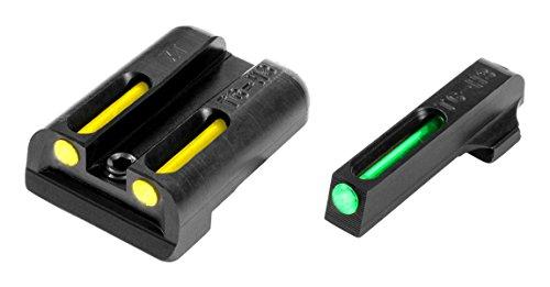 Truglo Night Sights - TRUGLO TFO Handgun Sight Set - Springfield XD, XDM, XDS - Green/Yellow Rear