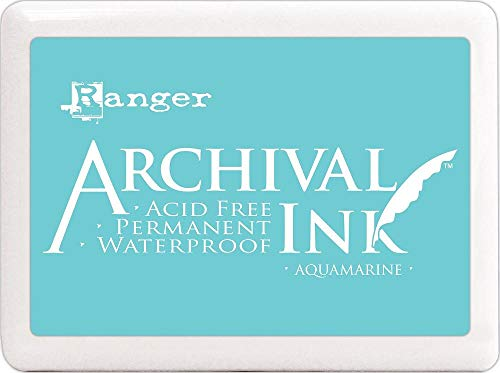 Ranger Archival Ink Jumbo Ink Pad #3-Aquamarine ()