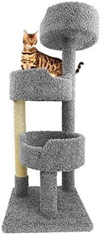 Amazon.com: Alfombra gato torre para gatos grandes en gris ...