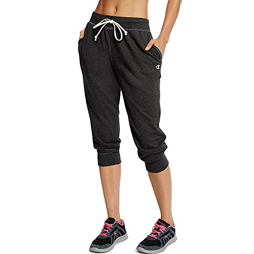 Champion Women's French Terry Jogger Capri_Black_M