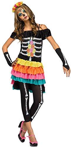 Fun World FW124083-J Teenagers Dia De Los Muertos Costume44; -