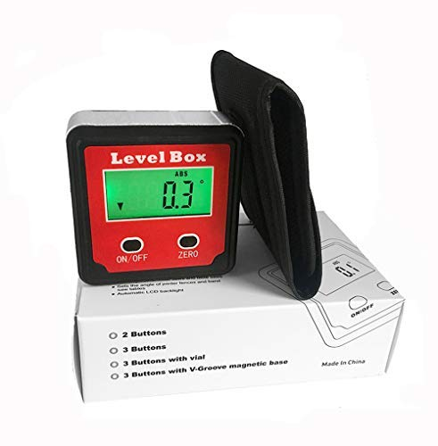 Partol Digital Angle Gauge//Level//Protractor//Angle Finder//Bevel Gauge//Inclinometer//with Backlight and Magnetic Base Accurate Digital Level Box Electronic Angle Finding for Table Miter Brand Saw