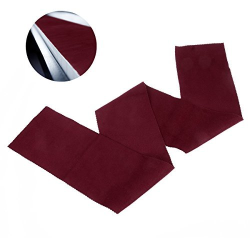 Best Price! ULTNICE Piano Keyboard Anti-Dust Cover Key Cover Cloth for Piano Cleaning Care Burgundy