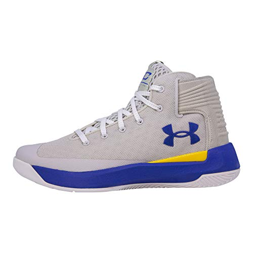Under Armour Kids Boys UA GS Curry 3ZERO Basketball (Grey/Taxi/Royal Blue, 5.5 M US Big Kid) by Under Armour (Image #1)