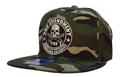 "2nd Amendment Hat Camo Ball Cap ""America's Original Homeland Security"" SNAPBACK"