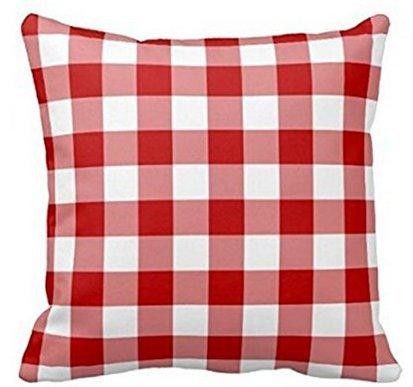 babyssj rojo y cuadros de almohada blanca cuadros plaid ...