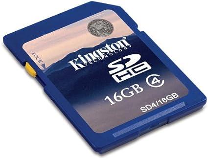Kingston 16 GB Class 4 SDHC Flash Memory Card SD4//16GB
