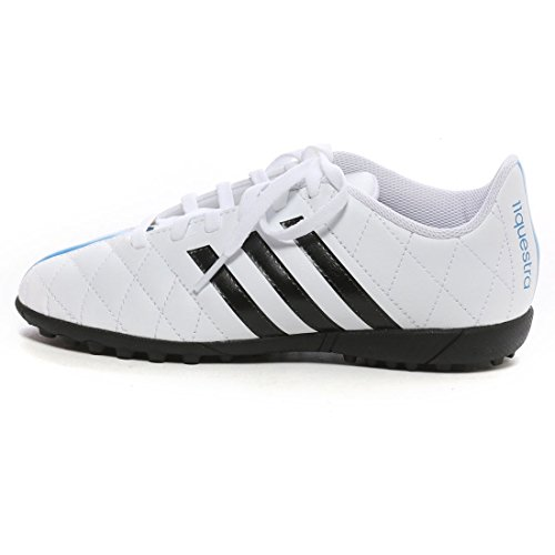 Adidas 11Questra TF Futsal Schuhe Jungen Junior Astro Turf Trainers Soccer Trainers Football Shoes Boys White/Black UK Sizes 10K-5.5 New B41028 (UK1 /EU33)