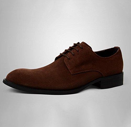Heart&M ante de negocios informal helado de los hombres señaló zapatos de cuero del dedo del pie coffee