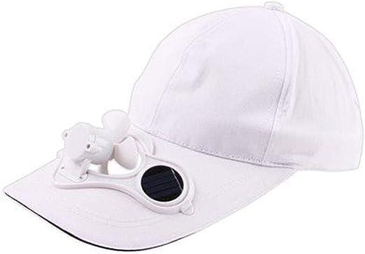 Gorra de Mujer con Ventilador Solar, Sombrero de Verano con ...