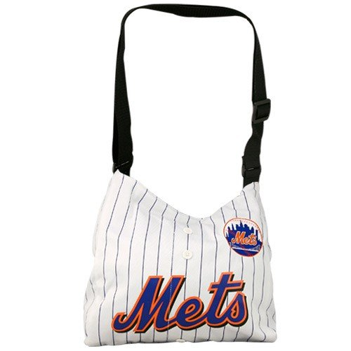 MLB New York Mets White Pinstripe Veteran Jersey Tote Bag ()