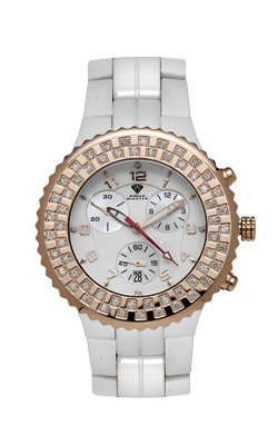 Aqua Master Ladies' Ceramic Diamond Watch, 1.25 ctw by Aqua Master