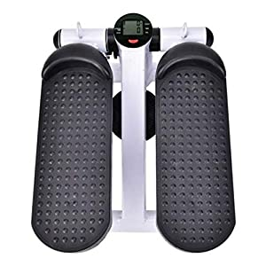 Mini Stepper for Exercise, Home Sports Stepper with Lcd Display Screen Of Hydraulic Cylinder with Resistance Band, Adjustable Portable Stair Stepper, Air Climber Stair Stepper, Aerobic Stepp Machine