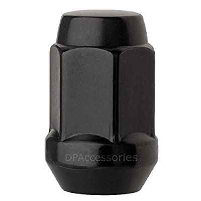 DPAccessories LCB3B2HE-BK04020 20 Black 1/2-20 Closed End Bulge Acorn Lug Nuts - Cone Seat - 3/4