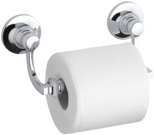 Vintage Toilet Chrome Paper Holder (KOHLER K-11415-CP Bancroft Toilet Tissue Holder, Polished Chrome)