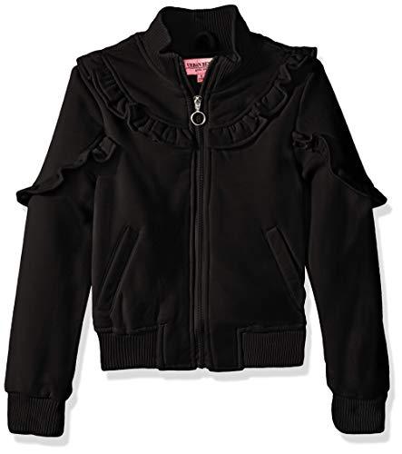 Urban Republic Toddler Girls Fleece Jacket, Black, 2T
