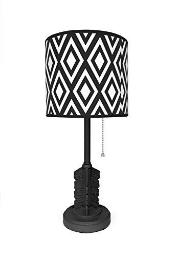 Heritage Kids 784857746945 Arrow Table Lamp, Black