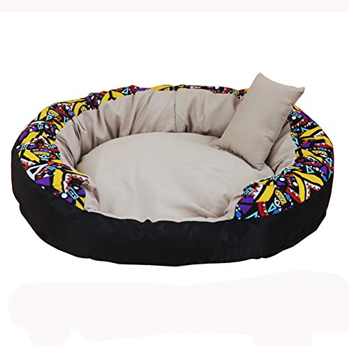 YINING Pet nest,Oval Shape/Removable Bed/Four Seasons Universal/Kennel cave Bed Pet Cat Bed for Cats and Small Dogs ()