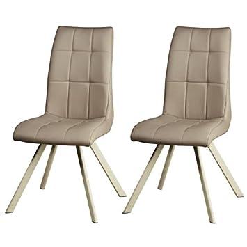 Générique Cocoon - Set di 2 sedie da sala da pranzo 44 cm - Tortora ...