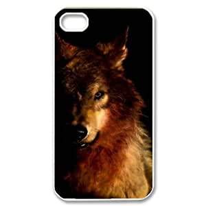 Wolf DIY Case Cover for iPhone 4,4S LMc-24403 at LaiMc