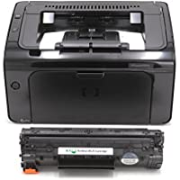 RT P1109W MICR Check Printing Package: LaserJet P1109W Printer and 1 CE285A 85A Modified MICR Toner Cartridge; starter yield 500 pages