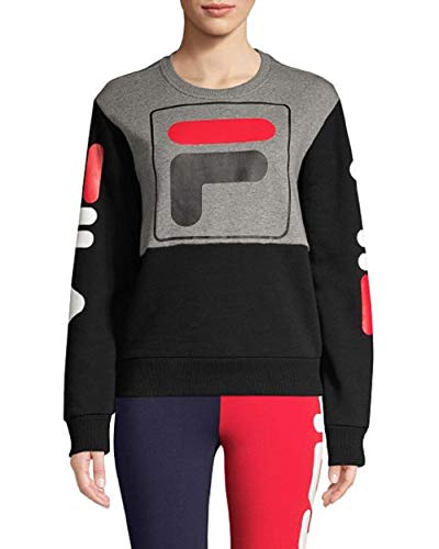 Fila Women's Stacy Sweatshirt (Varsity Heather/Black/Black, X-Small)