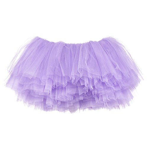 - My Lello Big Girls 10-Layer Short Ballet Tulle Tutu Skirt (4T-10yr) -Light Lavender